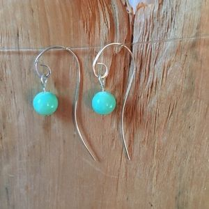 Jewelry - Sterling silver and quartzite earrings